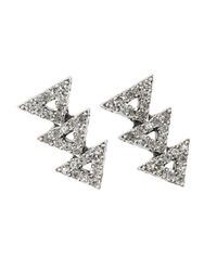 House of Harlow 1960 | Metallic Tessellation Earrings | Lyst