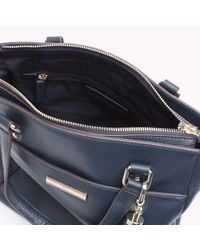 Tommy Hilfiger - Blue Pebbled Leather Tote - Lyst