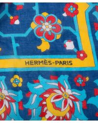 Hermès - Black Guaranteed Authentic Pre-Owned Scarf - Lyst
