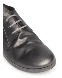 Marsèll - Gray 'Lista' Kangaroo Leather Derbies for Men - Lyst