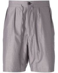 Paul Smith   Natural Pleated Front Shorts for Men   Lyst