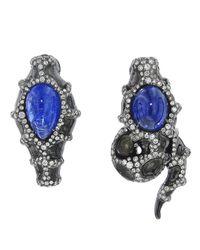 Arunashi   Blue Snake Earring   Lyst