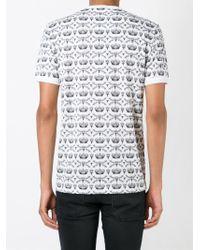 Dolce & Gabbana - White Crown & Bee Panel Print T-shirt for Men - Lyst