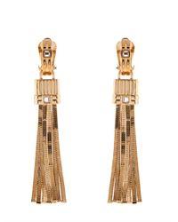 Lanvin - Metallic Art Deco Tassel Earrings - Lyst
