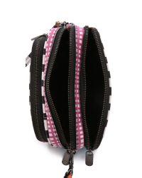 Marc By Marc Jacobs - Sophisticato Optical Stripe Cross Body Bag - Black Multi - Lyst