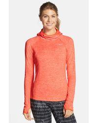 Nike - Orange 'element' Dri-fit Running Hoodie - Lyst