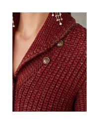 RRL - Red Shawl-collar Wool Cardigan - Lyst
