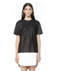 Alexander Wang | Black Matte Lamb Dress With Foiled Hem | Lyst