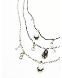 Free People - Metallic Womens Cherish 3 Chain Necklace - Lyst