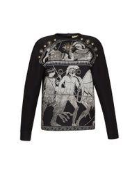 Fausto Puglisi - Black Studded Sweatshirt - Lyst