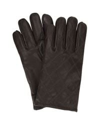 Ben Sherman | Brown Original Penguin Quilted Leather Gloves for Men | Lyst