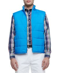 Peter Millar | Blue Cumberland Quilted Vest for Men | Lyst