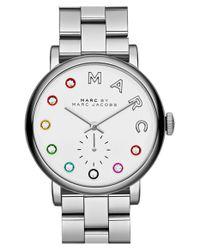 Marc Jacobs - Metallic 'baker' Crystal Index Bracelet Watch - Lyst
