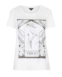 TOPSHOP - White Virgo Tee - Lyst