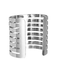 River Island | Metallic Rhodium Cut Out Cuffs | Lyst
