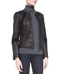 Tory Burch - Black Micky Leather Jacket - Lyst
