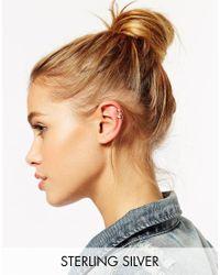 ASOS - Metallic Sterling Silver Ear Cuff Multipack - Lyst