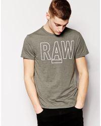 G-Star RAW - Green G Star Raw T-shirt Logo for Men - Lyst