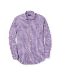 Polo Ralph Lauren - Purple Estate Slim-fit Poplin Shirt for Men - Lyst