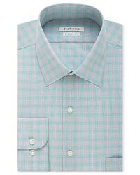 Van heusen men 39 s arctic plaid dress shirt in blue for men for Van heusen plaid shirts