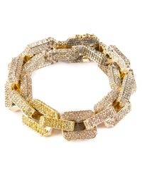 Eddie Borgo | Metallic Gold-plated Large Supra Link Bracelet With Crystals - Gold | Lyst