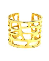 Ben-Amun | Metallic Cut-out Gold Cuff | Lyst
