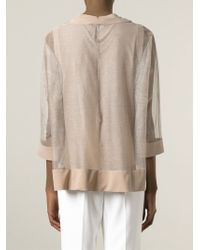 Brunello Cucinelli | Pink Layered Sheer Top | Lyst