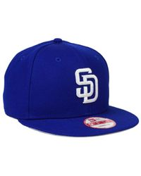 Lyst - KTZ San Diego Padres C-dub 9fifty Snapback Cap in Blue for Men 030421761133