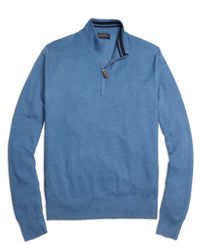 Brooks Brothers | Blue Half-zip Sweater for Men | Lyst