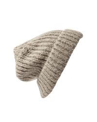 Forever 21 - Brown Chunky Knit Fold-Over Beanie - Lyst