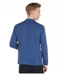 Lubiam | Blue Cotton 2-button Blazer for Men | Lyst