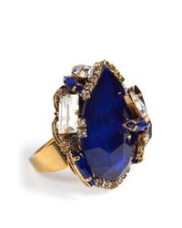 Erickson Beamon | Blue Queen Bee Ear Cocktail Ring | Lyst