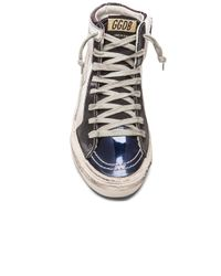 Golden Goose Deluxe Brand - Blue Slide Leather High-Top Sneakers - Lyst