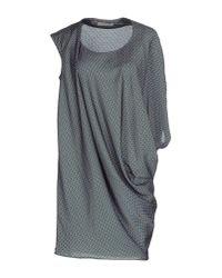 Pinko - Blue Short Dress - Lyst