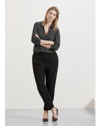 Violeta by Mango - Black Baggy Trousers - Lyst
