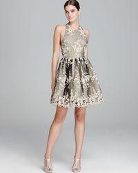 Alice + Olivia - Gray Alice Olivia Dress Beatrice Party - Lyst