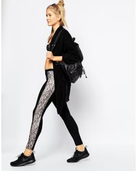 Blue Life - Contrast Lace Legging - Black - Lyst