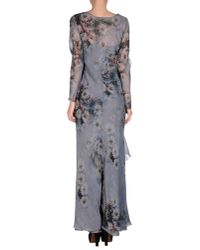 Alberta Ferretti - Gray Long Dress - Lyst