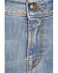 R13 - Blue Layered Distressed High-rise Straight-leg Jeans - Lyst