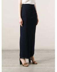 Giorgio Armani - Blue Draped Skirt - Lyst