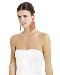 BCBGMAXAZRIA - Pink Oversized Rhinestone Cocktail Earrings - Lyst