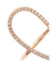 Diane Kordas - Pink Diamond & Rose-Gold Floating Ring - Lyst