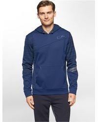 Calvin Klein | Blue White Label Performance Space Dye Fleece Hoodie | Lyst