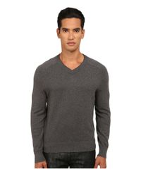 Jack Spade | Gray Dexler Cotton V-neck Sweater for Men | Lyst