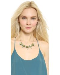 Alexis Bittar - Green Baguette Stepped Articulating Bib Necklace - Sage - Lyst