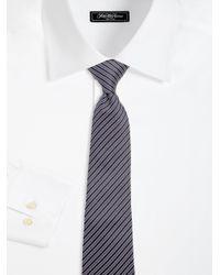 Armani - Blue Narrow Stripe Silk Tie for Men - Lyst