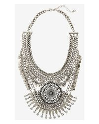 Express | Metallic Nested Chain And Medallion Necklace | Lyst
