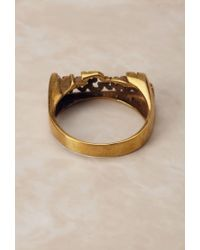 Forever 21 - Metallic Groundscorenyc New York Brass Ring - Lyst