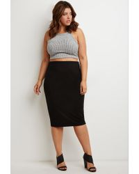 Forever 21 | Black Classic Pencil Skirt | Lyst