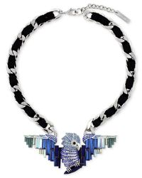 Vince Camuto - Blue Silver-tone Bird Pendant Necklace - Lyst